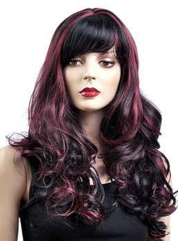 Fashionable Mixed Color Long Curly Capless Synthetic Wig