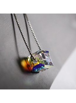 Cubic Pendant 925 Sterling Silver Necklace