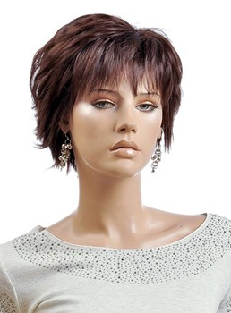 Short Layered Straight Synthetic Wig 8 Inches