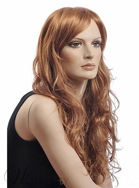 22 Inches Stylish Long Natural Wave Synthetic Wig
