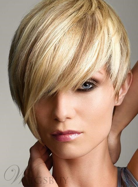 Boy Cut Short Straight Capless Synthetic Wig 6 Inches