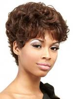 Short Curly Black Women Human Hair Full Lace Wigs 6 Inches