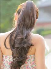 120 g Long Loose Wave Clip In Synthetic Ponytail 22 Inches