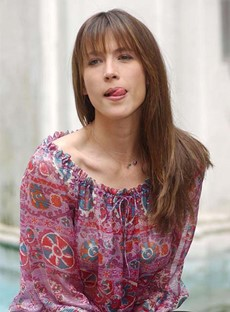 Elegant Long Natural Straight Sophie Marceau Hairstyle Capless Human Hair Wig 20 Inches