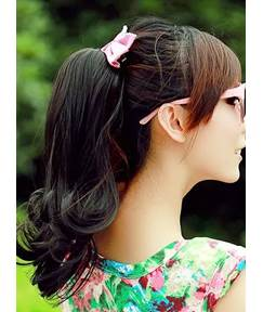 Short Slight Wave Bandage Synthetic Ponytail