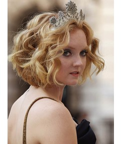 Lovely Medium Curly Lace Front Human Hair Wig 12 Inches
