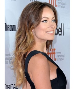 Olivia Wilde Beachy Wave Human Hair 7 PCS Clip In Hair Extensions