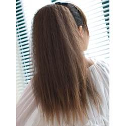 Corn Stigma Style Fluffy Long Synthetic Ponytail 23 Inches