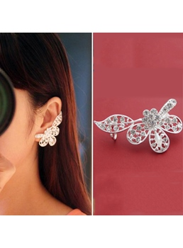 New Arrival Flower Shape Ear Cuff (Right Ear)