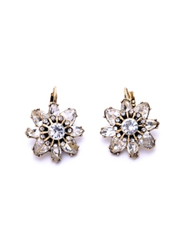 Lovely Flower Rhinestone Earrings