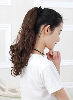 Long Natural Wave Bandage Style Synthetic Ponytail 18 Inches