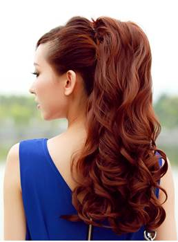 Long Loose Wave Bandage Style Fluffy Ponytail 21 Inches