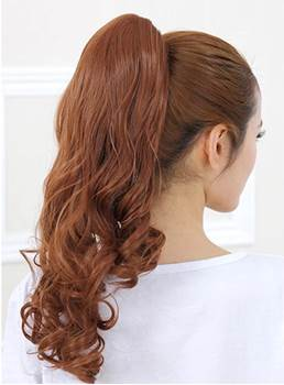 Long Loose Wave Clip In Synthetic Ponytail
