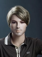 Cool Short Straight Synthetic Wig for Men