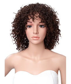 Short Kinky Curly African American Capless Synthetic Wigs 14 Inches