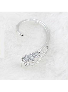 Unique Rhinestone Wing Shape Ear Cuff ( Price for One )