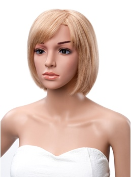 Short Straight Bob Hair Style Side Bang Human Hair Capless Wigs 10 Inches