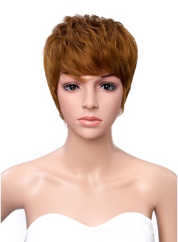 Short Straight Boy Cut Hairstyle Capless Synthetic Wigs 6 Inches