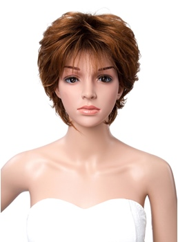 Short Slight Wave Full Bang Capless Synthetic Women Wigs 12 Inches