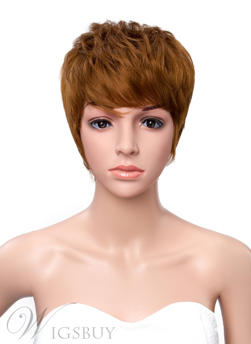 Short Straight Boy Cut Hairstyle Capless Synthetic Wigs 6 Inches 11361341