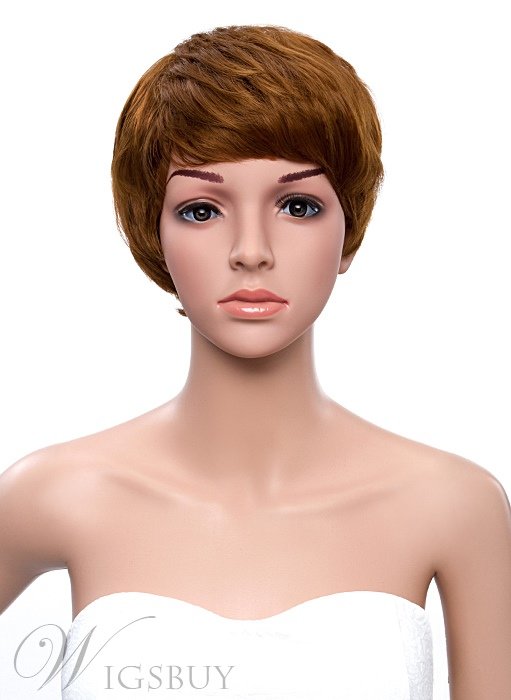Short Straight Bob Hair Style Full Bang Synthetic Capless Wigs 8 Inches 11361449