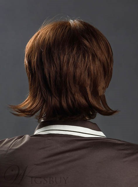 8 Inches Short Straight Synthetic Wig for Men