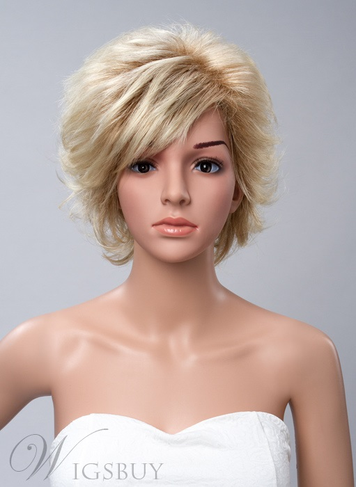 Layered Short Wavy Capless Synthetic Wigs 10 Inches