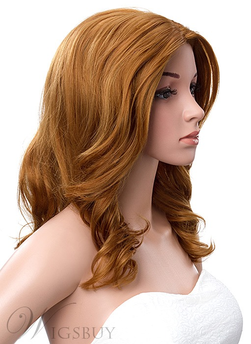 14 Inches Mid-Length Body Wave Synthetic Lace Front Wigs