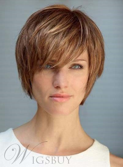 Elegant 8 Inches Short Straight Capless Human Hair Wig