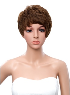 Mushroom haircut new arrival wigsbuy new arrival short layered straight asymmetric human hair wig 8 inches winobraniefo Images