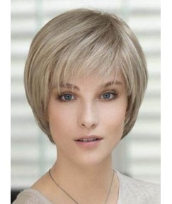 Carefree Short Straight Capless Human Hair Wig 8 Inches