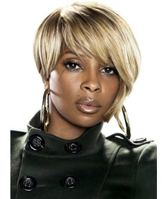 Short Straight Capless Synthetic Wig for Black Women 8 Inches