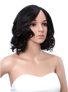 Bob Curly Lace Front Human Hair Wig 14 Inches