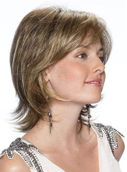 Comfortable Short Straight Lace Front Synthetic Wig 12 Inches