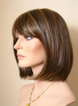 Medium Bob Hairstyle Carefree Synthetic Wig 12 Inches