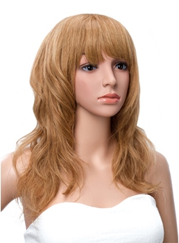 Long Loose Wave Full Bang Synthetic Wig 18 Inches