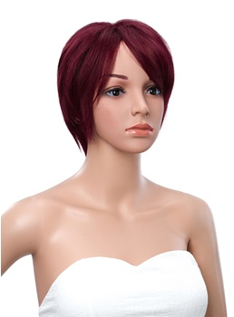 Short Straight Lace Front Human Hair Wig 10 Inches
