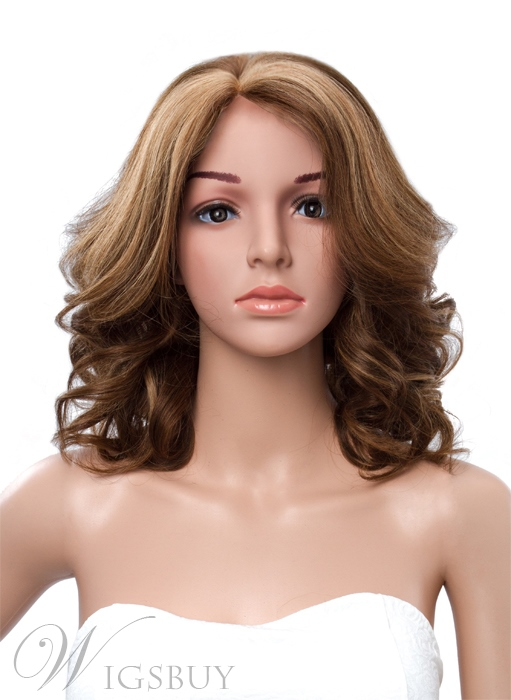 14 Inches Bottom Curly Lace Front Human Hair Wig