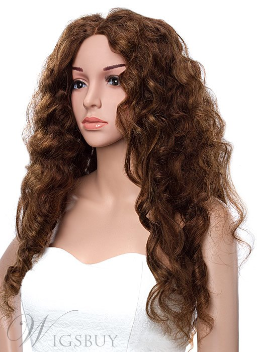 Beyonce Long Sexy Curly Hairstyle Lace Front 100% Human Hair Wig 24 Inches