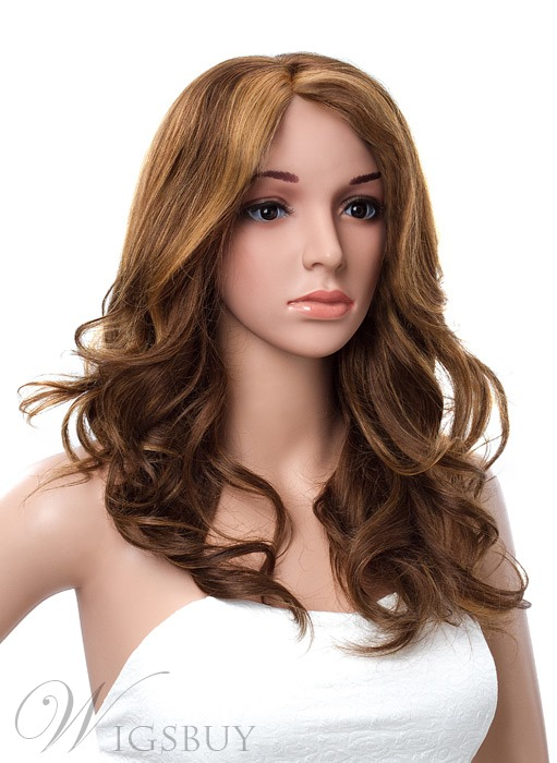 Elegant Long Loose Wave Lace Front Human Hair Wig 20 Inches