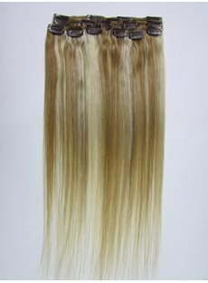 Long Straight Synthetic One Piece Clip In Hair Extensions 14 Inches
