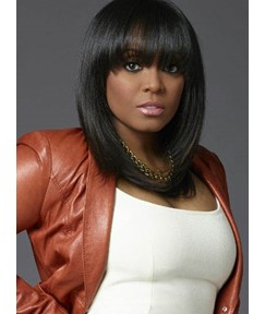 Youthful Straight Capless Synthetic Wig for Black Women 16 Inches