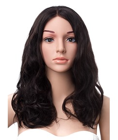 Celebrity Hairstyle Medium Wave Lace Front Human Hair Wig 16 Inches