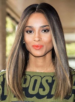 Celebrity Silky Straight Hairstyle Lace Front Human Hair Wig 18 Inches