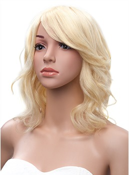 Carefree Medium Wave Capless Human Hair Wig 14 Inches