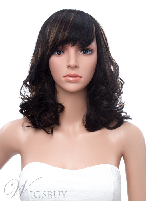 Hot Sale Medium Wave Capless Synthetic Wig 14 Inches 11375018