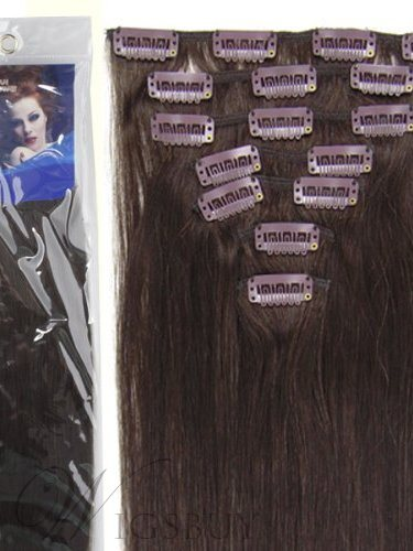 Clip in Remy Human Hair Extensions with Bleach Blonde 7pcs 70g (20