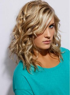 Sexy Women's Long Deep Wavy Full Lace Human Hair Wig 18 Inches