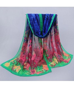 Floral Printed Women's Chiffon Scarf