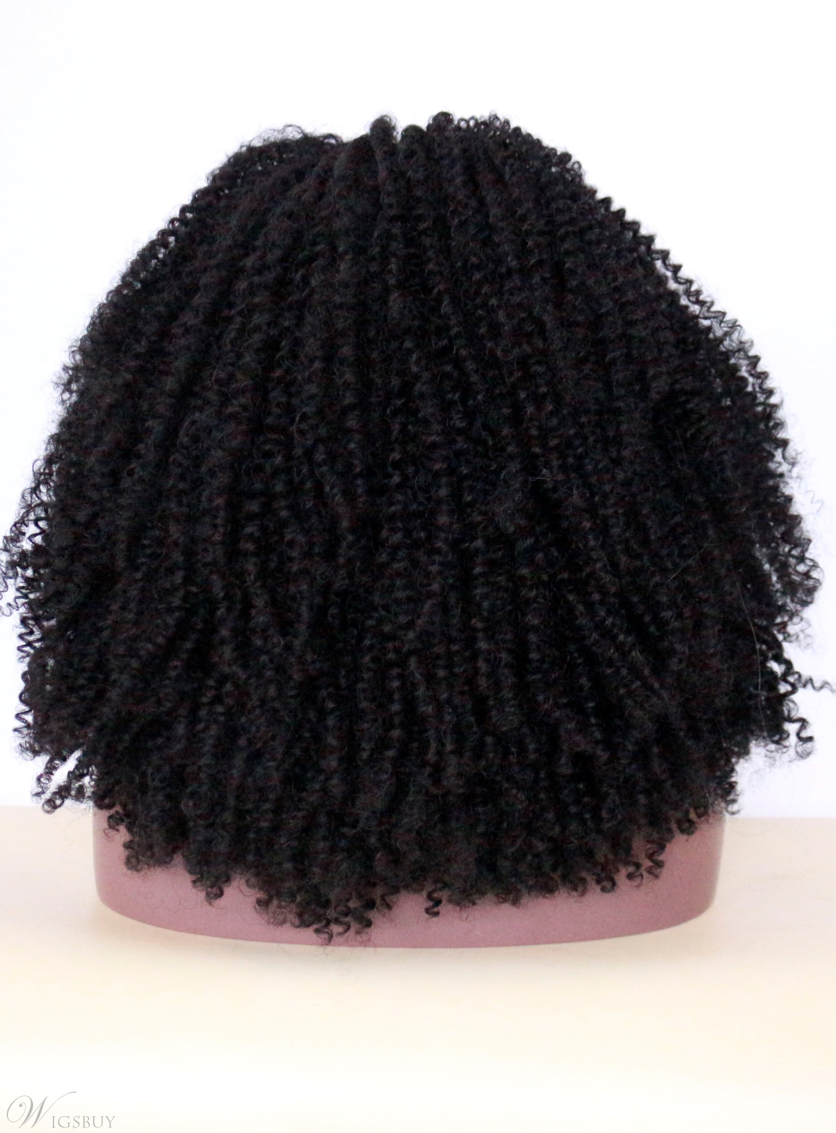 Black Women Kinky Curly Lace Front 150% Density Synthetic Wigs 14 Inches